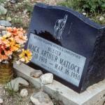Commercially-made marker in Black Oak Cemetery.