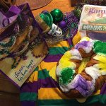 King Cake and the colors of Mardi Gras