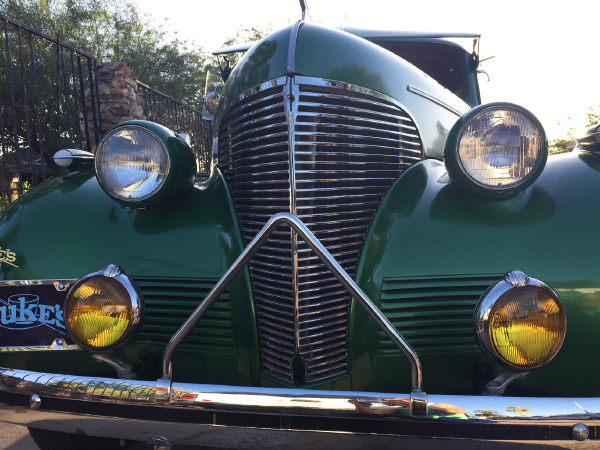 Front view of Alfred Jr's '38 Chevy