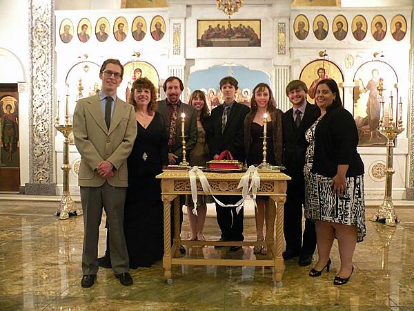 HROC singers at an Orthodox wedding
