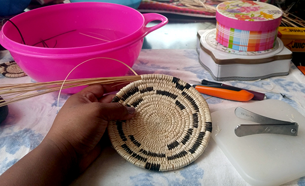 Basket in progress